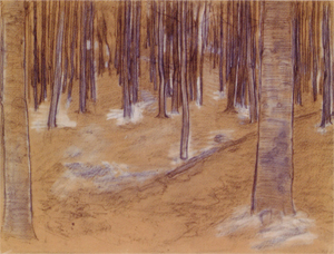 Mondrian A87 Wood with Beech Trees, Drawing, c.1899