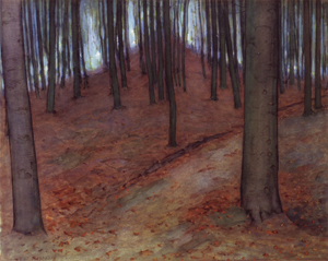 Mondrian A88 Wood with Beech Trees, c.1899