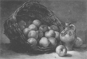 Mondrian A8 Mand met Appels (Basket with Apples), 1891